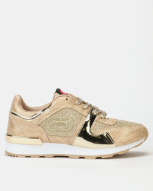 ECKÓ Unltd Lurex Combo Sneakers Gold