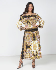 Utopia Baroque Print Midi Dress Multi