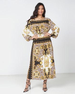 Utopia Baroque Print Midi Dress Multi