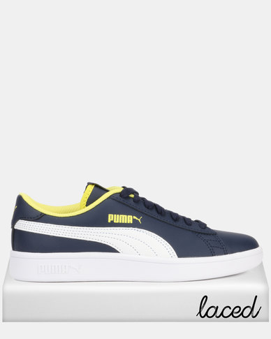Puma Smash v2 L Jr Peacoat Sneakers Navy