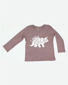 Kay & May Baby 'Dynomite Dad' Print Cotton Tee Pink