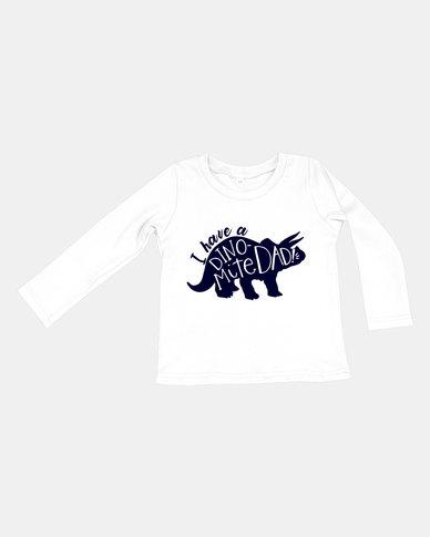 Kay & May Baby  'Dynomite Dad' Print Cotton Tee Black