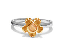 The Jeweller's Florist Forget Me Not Ring - Silver & Yellow Gold - Citrine