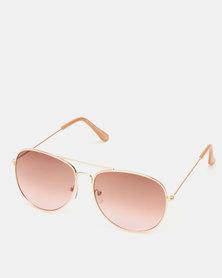 New Look Pilot Sunglasses Gold
