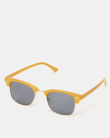 New Look Classic Style Sunglasses Yellow