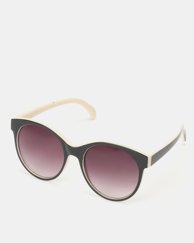 New Look Rounded Contrast Inner Sunglasses Black