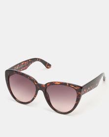 New Look Oversized Cat Eye Sunglasses Dark Brown