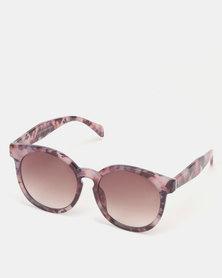 New Look Resin Cat Eye Sunglasses Purple