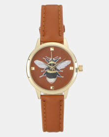 New Look Bee Analogue Watch Tan