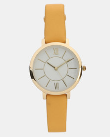 New Look Strap Watch Bright Yellow