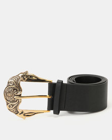 New Look Oversized Buckle Belt Black