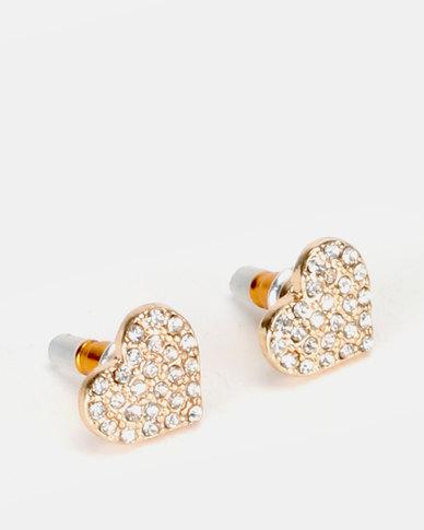 New Look Diamant? Heart Stud Earrings Gold