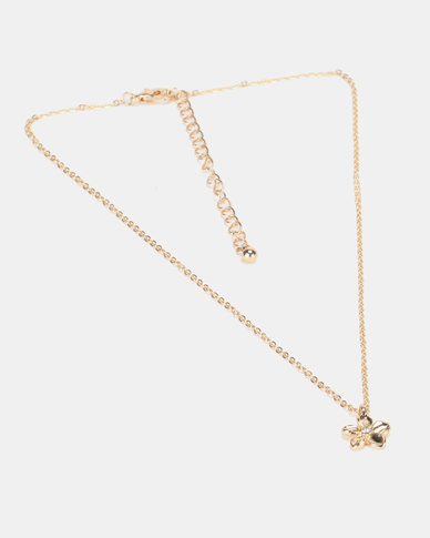 New Look Flower Pendant Necklace Gold