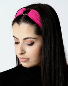 New Look Ring Front Headband Bright Pink