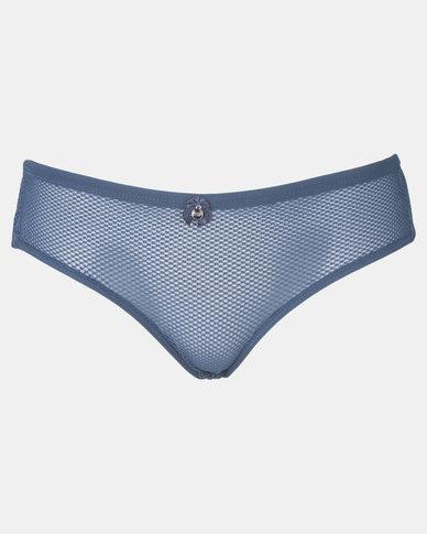 Sissy Boy Strap Detail Tanga Panty Navy