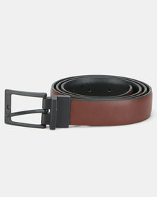 New Look Reversible Belt Black and Brown