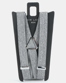 New Look Chambray Braces Light Grey