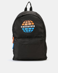 New Look California Print Backpack Black