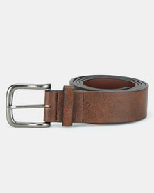 New Look Leather-Look Belt Mid Brown