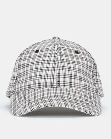 New Look Grid Check Cap Light Pink