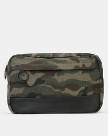 New Look Camo Crossbody Bag Dark Khaki