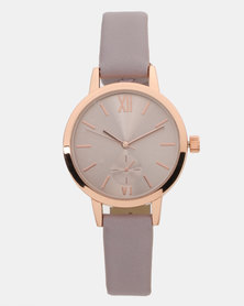 New Look Strap Analogue Watch Lilac