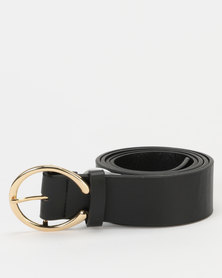 New Look Horseshoe Buckle Belt Black