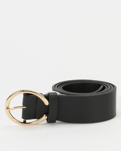 New Look Horseshoe Buckle Belt Black