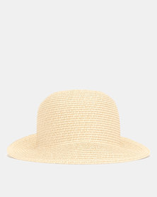 New Look Straw Effect Bucket Hat Stone