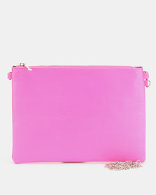 New Look Neon Cross Body Bag Bright Pink