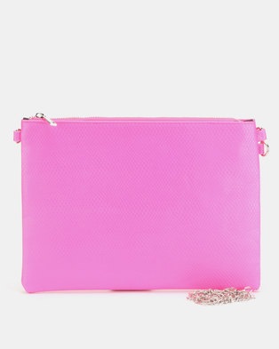 New Look Neon Cross Body Bag Bright Pink