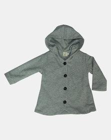 Kay & May Toddler Knit Coat - Grey