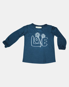 Kay & May Toddler Love Viscose Tee -Teal