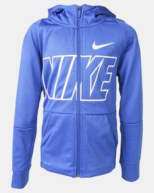 Nike B NK Therma Hoodie FZ GFX Blue