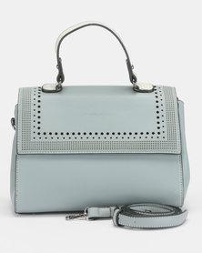 Blackcherry Bag Front Flap Crossbody Bag Grey