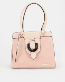 Blackcherry Bag Buckle Detail Hangbag Nude