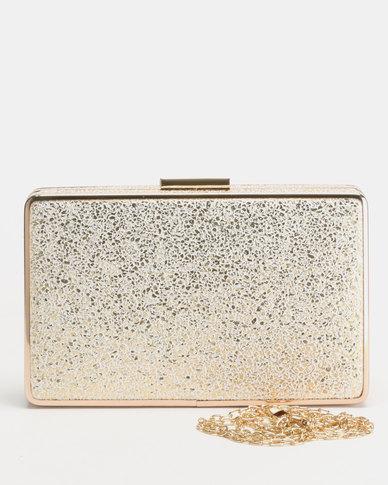 Blackcherry Bag Octo Clutch Bag Gold