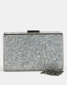 Blackcherry Bag Octo Clutch Bag Silver