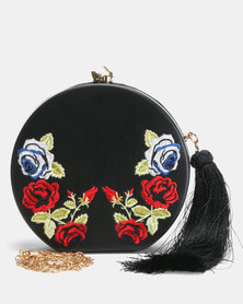Blackcherry Bag Bloom Clutch Bag Black