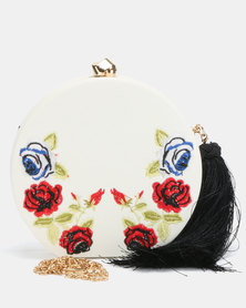Blackcherry Bag Bloom Clutch Bag White