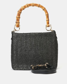 Blackcherry Bag Sofia Hessian Handbag Black