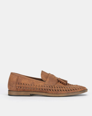 New Look Bondi Woven Tassel Front Loafers Tan