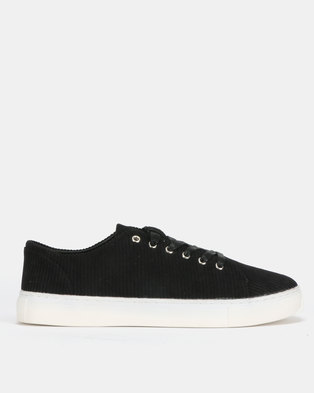 New Look Will Cord Trainer Black