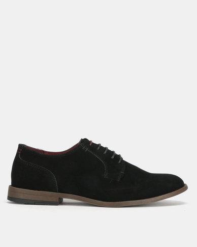 New Look Apollo Suedette Lace Up Derby Shoes Black