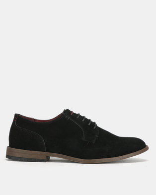New Look Apollo Suedette Lace Up Derby Shoes Black