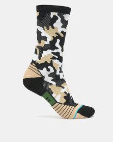 Stance Performance Smoked Camo Crew Socks Multi