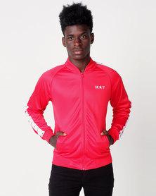 K Star 7 Winner Trico Zip Through Track Top Red