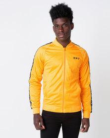 K Star 7 Winner Trico Zip Through Track Top Yellow