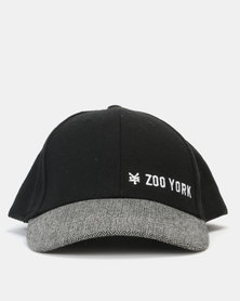 Zoo York Flat Peak Cap Black