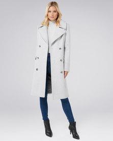 Forever New Brit maxi coat Grey